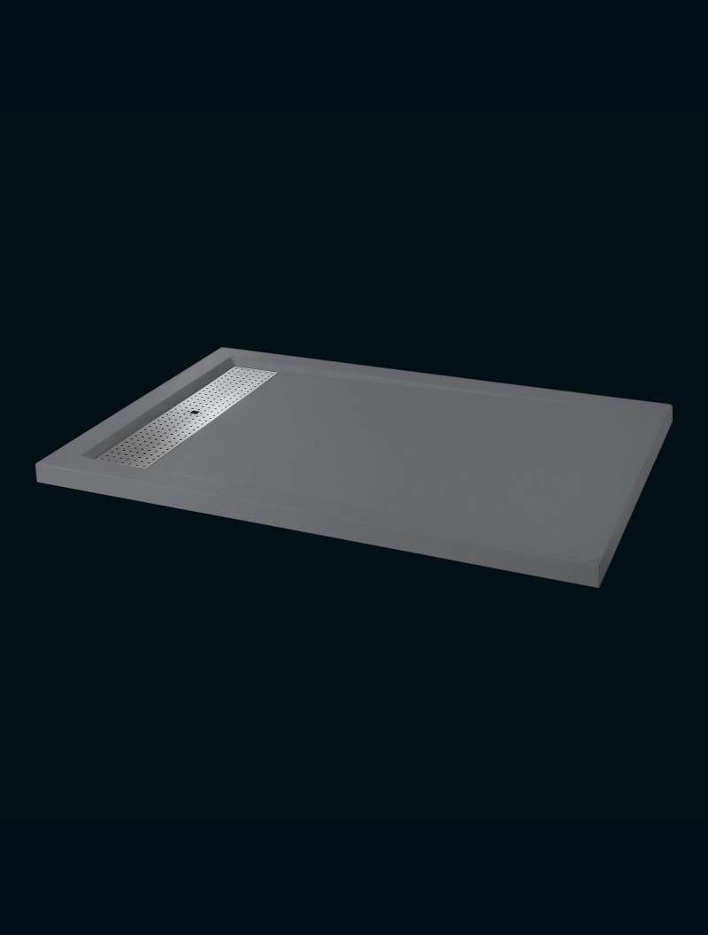 receveur extra plat 80x120 avoriaz gris godart distribution. Black Bedroom Furniture Sets. Home Design Ideas