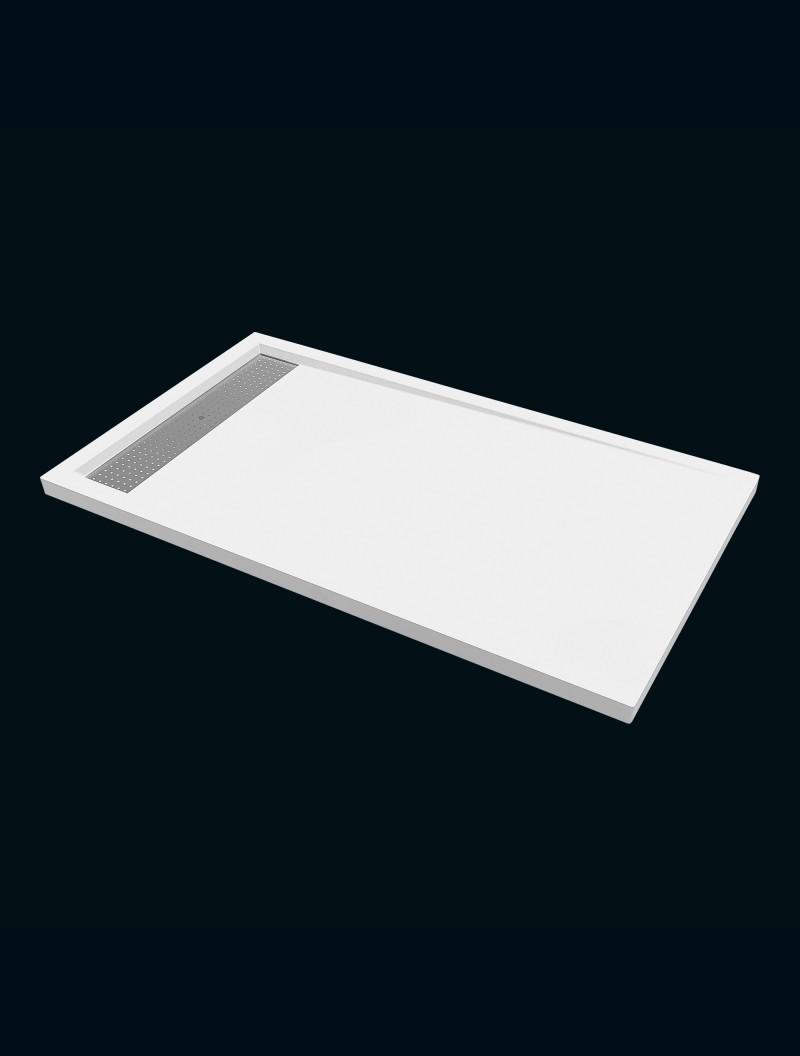 receveur extra plat 80x140 avoriaz blanc godart distribution. Black Bedroom Furniture Sets. Home Design Ideas