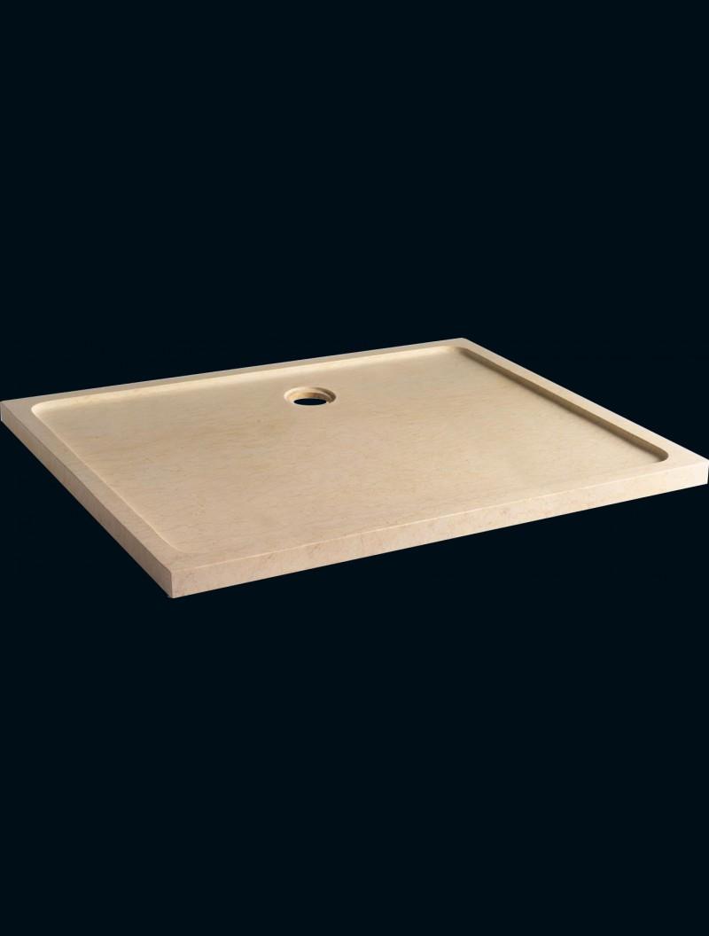 receveur extra plat pierre naturelle 80 x 120 eg beige egyptien godart distribution. Black Bedroom Furniture Sets. Home Design Ideas