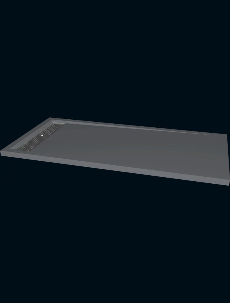 receveur extra plat 80x160 avoriaz gris godart distribution. Black Bedroom Furniture Sets. Home Design Ideas