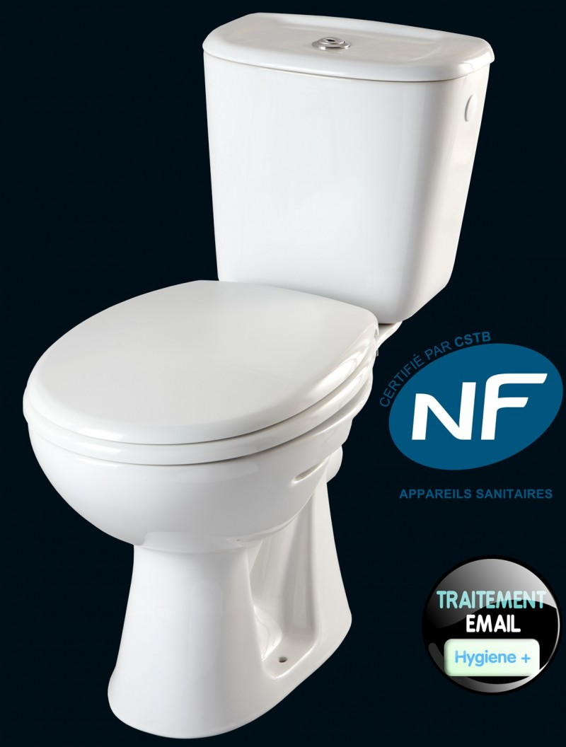 1 PAN WC ENAMEL TREATMENT HYGIENE REDUCED UNTIL 99 BACTERIA SEAT COVER SOFT CLOSED CISTERN MECANISM 3 6L WATER SAVER SILENT FLOAT VALVE
