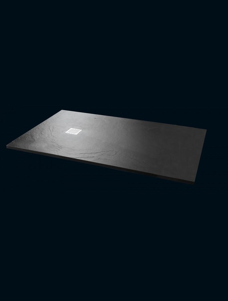 receveur extra plat 90x160 bahamas noir godart. Black Bedroom Furniture Sets. Home Design Ideas