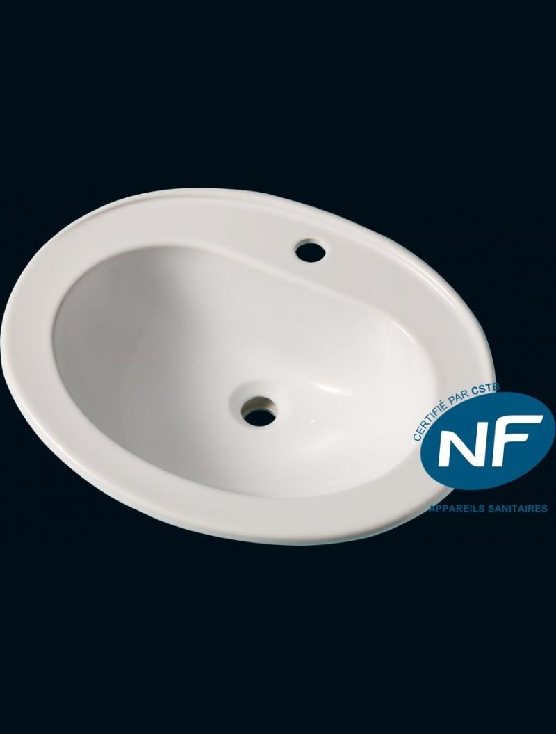 vasque a encastrer norma nf blanc godart distribution. Black Bedroom Furniture Sets. Home Design Ideas