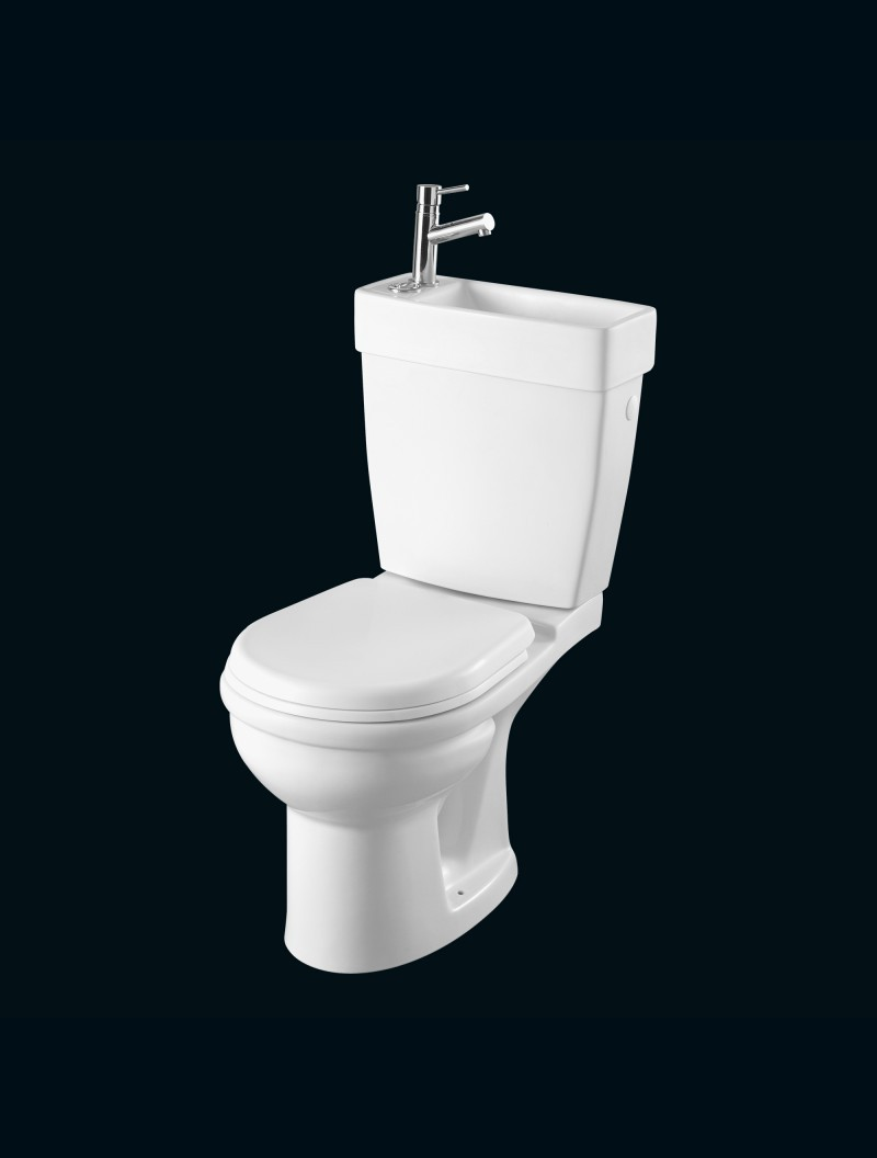 Wc gain de place avec lave mains integre gain de place duo for Wc gain de place villeroy et boch